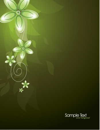 dark olive: Flowers  Abstract Background  Vector