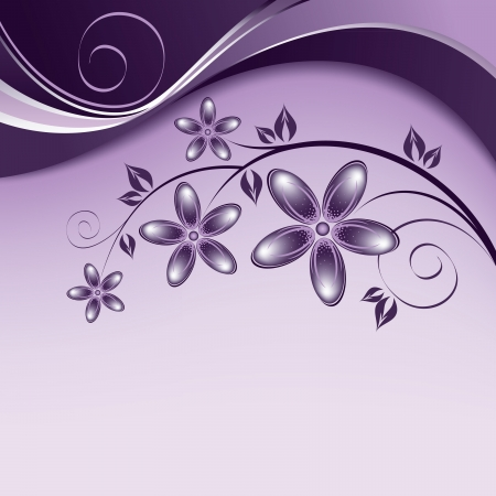 white wave: Flowers  Abstract Background  Vector