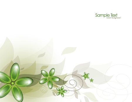 Flowers  Abstract Background  Vector Stok Fotoğraf - 14435723