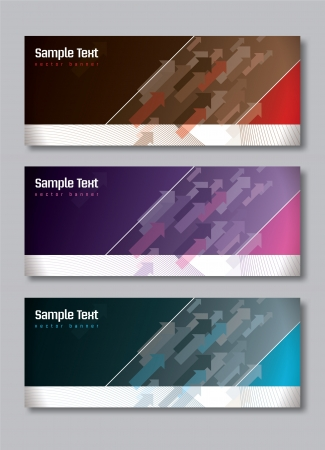Set of Three Banners  Abstract Vector Headers Stock Vector - 14434860