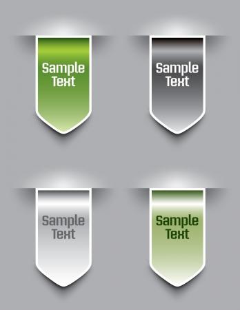 Bookmarks  Vector illustration Stock Vector - 14435870