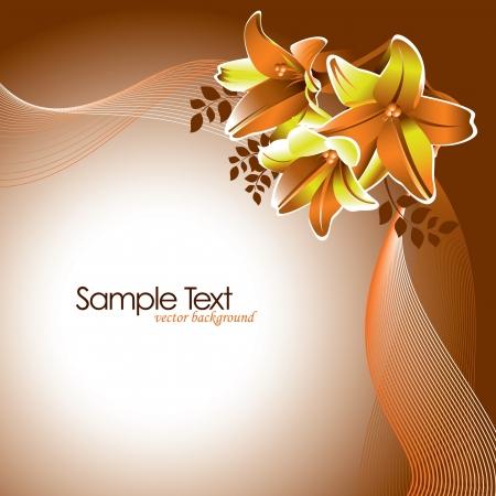 scroll border: Flowers  Abstract Background  Vector