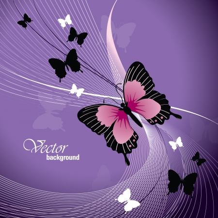 purple butterfly:  Design With Butterflies  Illustration