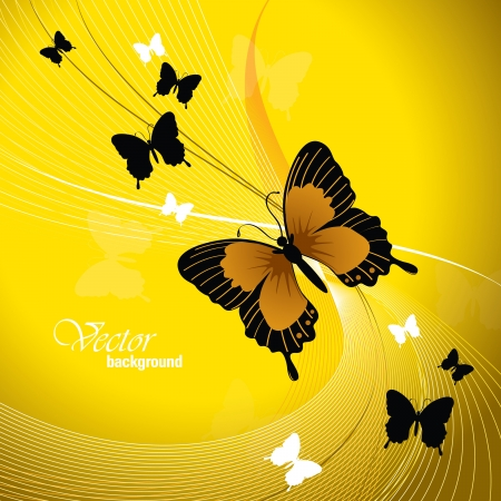 butterfly background: Vector Design With Butterflies