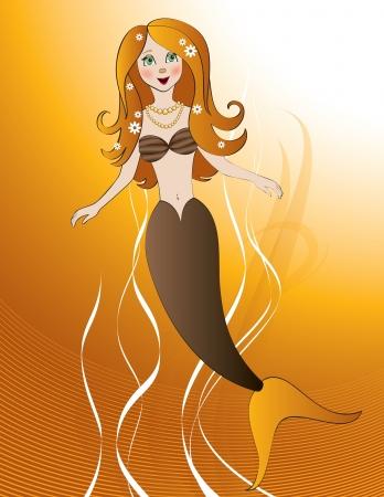 Mermaid  Vector Illustration  Vector