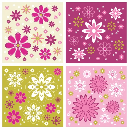 Set of Abstract Backgrounds  Vector Illustration