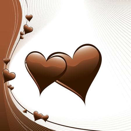brown: Hearts  Illustration  Illustration