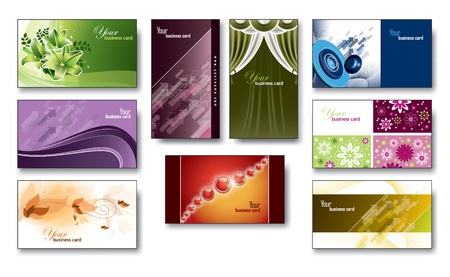 Business Cards, Gift Cards  Eps10   Vector