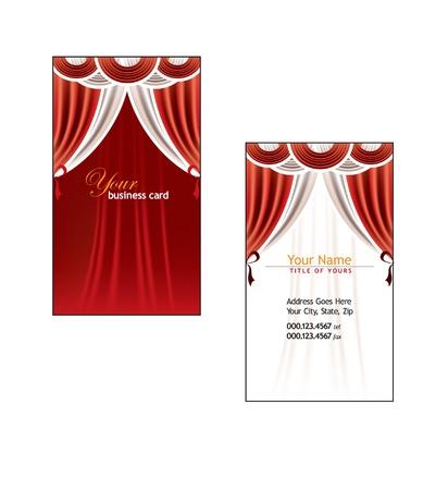 Business Card Template  Vector Illustration 免版税图像 - 14435733