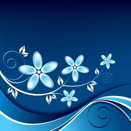 horizontal: Floral Background