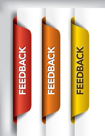 Feedback Labels And Stickers on the edge of the page Stock Vector - 14533820