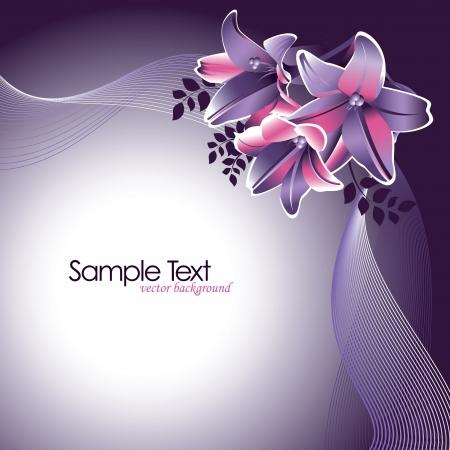scroll border: Floral Background
