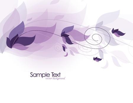 purple flowers: Background  Abstract Illustration  Illustration
