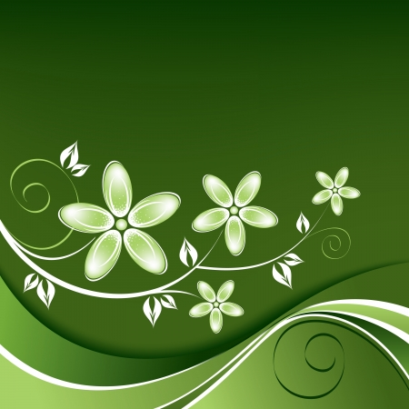Bloemen Achtergrond Illustratie