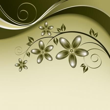 Floral Background  Illustratition  Vector