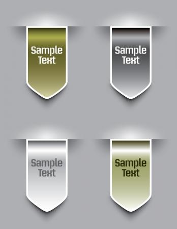 Bookmarks illustration  Vector