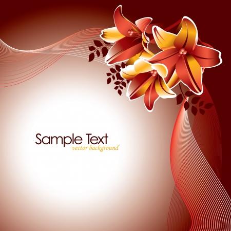forme: Illustration Fond floral