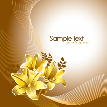gold textured background: Floral Background Illustration