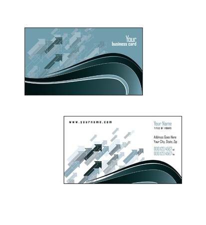 Business Card Template   Illustration Stock Vector - 14550877