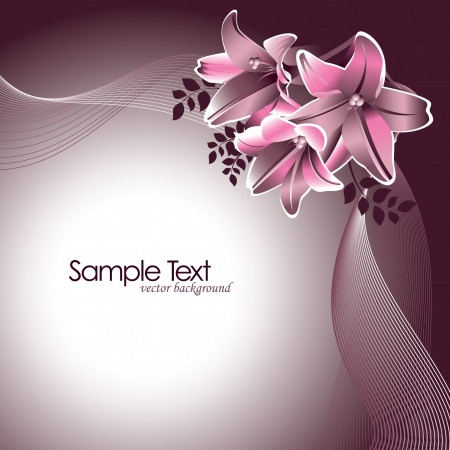 grey background texture: Floral Background Illustration