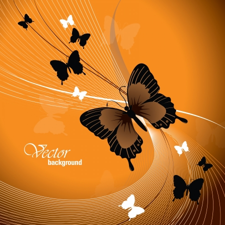 butterfly background:  Design With Butterflies  Illustration