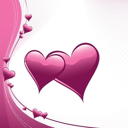 pink hearts: Hearts  Illustration  Illustration