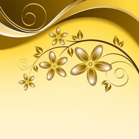 Floral Background Illustration Standard-Bild - 14692289
