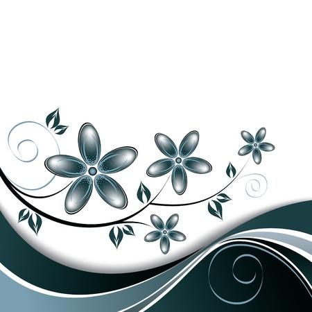 romantic: Floral Background   Illustration