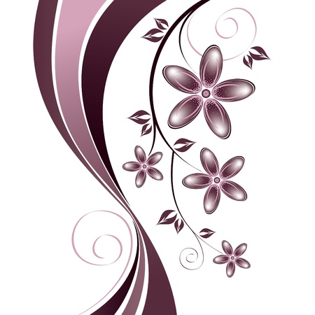 floral decoration: Floral Background  Vector Illustration