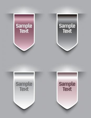 silver ribbon: Bookmarks   illustration