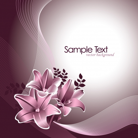 scroll background: Fondo floral Ilustraci�n vectorial