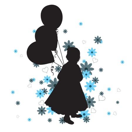 Little Girl  Illustration in  format