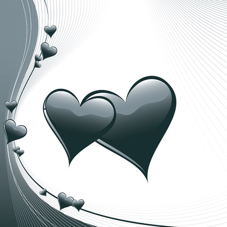 festive background: Hearts  Illustration in  format
