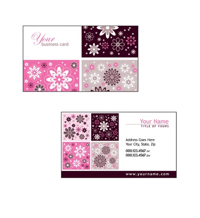 Business Card Template  Illustration  Vector