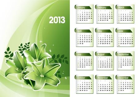 2013 Calendar Stock Vector - 14854141