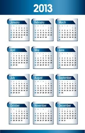 2013 Calendar  Illusztráció