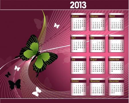 2013 Calendar Stock Vector - 14854119