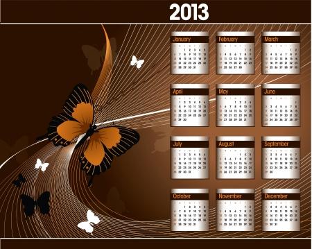 2013 Calendar Stock Vector - 14854117