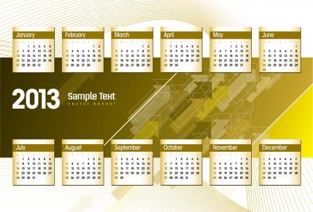 2013 Calendar  Stock Vector - 14854116