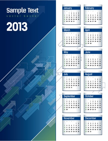 2013 Calendar  Illustration