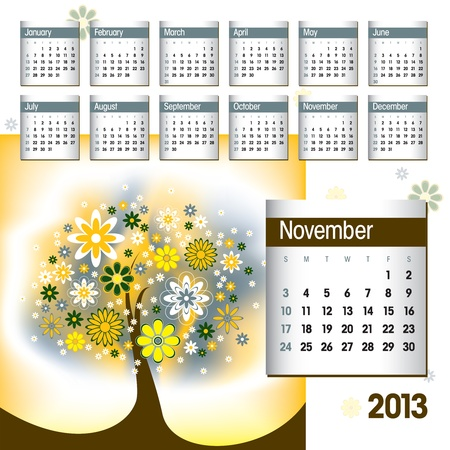 2013 Calendar  November Stock Vector - 14854125