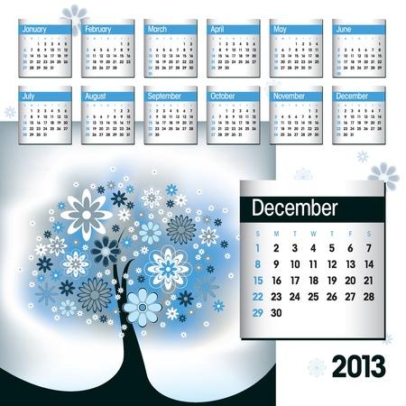 2013 Calendar  December  Stock Vector - 14854123