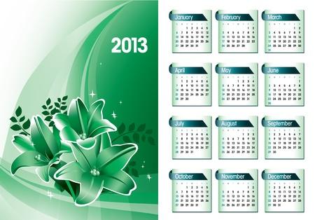 2013 Calendar Stock Vector - 14987452