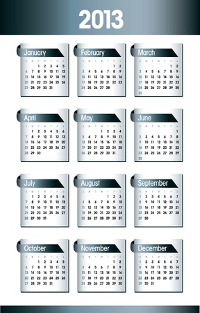2013 Calendar  Design  Stock Vector - 14985721