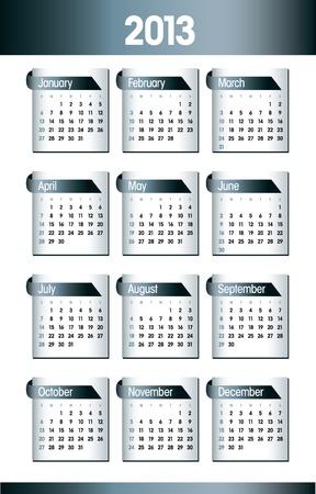 2013 Calendar  Design Stock Vector - 14985721