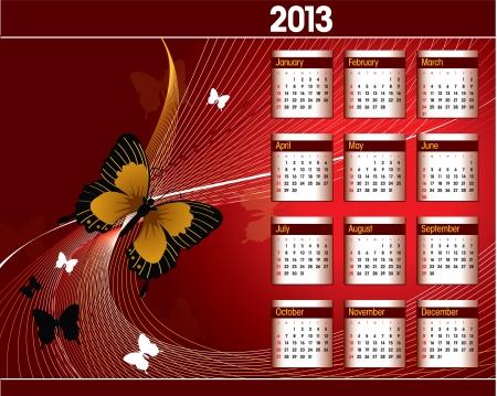 2013 Calendar Stock Vector - 14987371