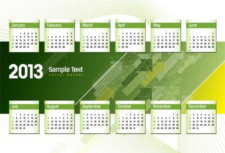 2013 Calendar Stock Vector - 14985730