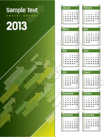 2013 Calendar Stock Vector - 14985725