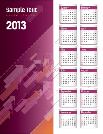 2013 Calendar Stock Vector - 14985726
