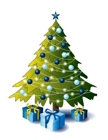 Kerstboom met stelt voor